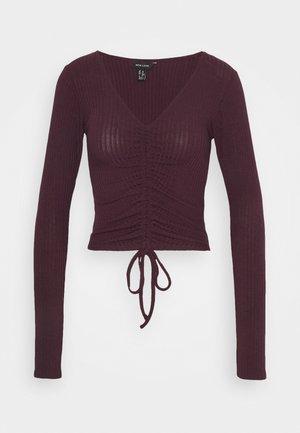 RUCHED FRONT - Topper langermet - dark burgundy