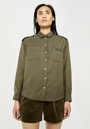 ACID WASH - Button-down blouse - kaki