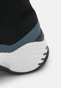 Emporio Armani - Baskets montantes - black/shiny gunmetal - 6