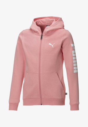 PIGE - veste en sweat zippée - salmon rose-puma white