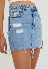 PULL&BEAR - A-line skirt - blue - 4
