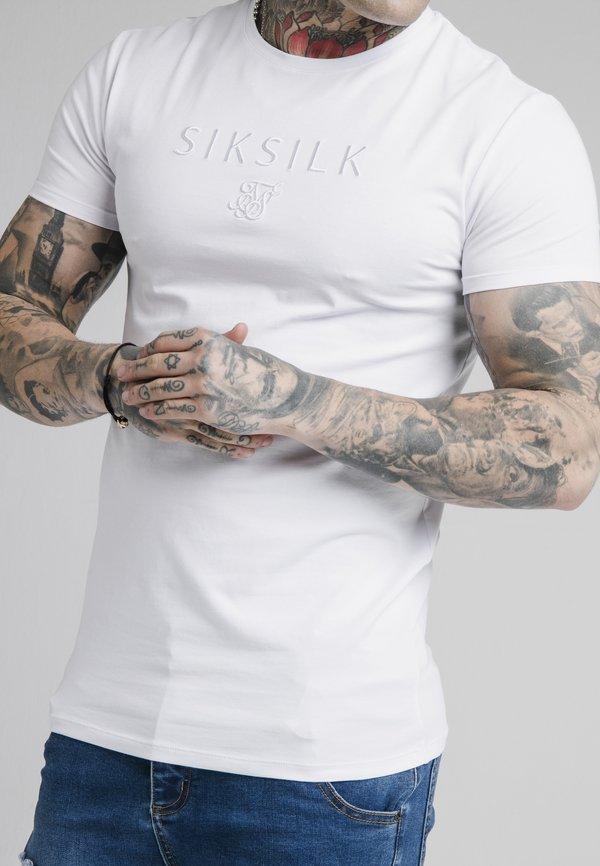 SIKSILK ASTRO GYM TEE - T-shirt basic - white/biały Odzież Męska EACU