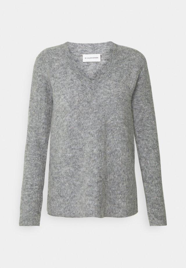 BIFORA - Sweter - medium grey melange