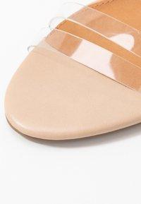 Rubi Shoes by Cotton On - SHARI DOUBLE STRAP STILLETO - Sandály na vysokém podpatku - nude/clear - 2