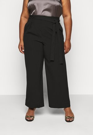 CARICOLE ANKEL WIDE PANTS - Trousers - black