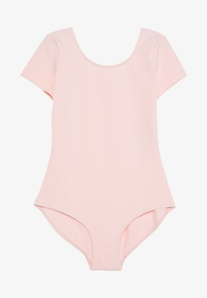 SHORT SLEEVE LEOTARD BALLET - trikot na gymnastiku - light pink