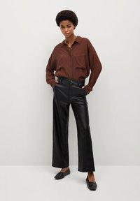 Mango - CAMILLA - Trousers - svart - 1