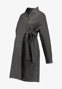 MAMALICIOUS - MLHAZE COAT - Płaszcz wełniany /Płaszcz klasyczny - dark grey melange - 3