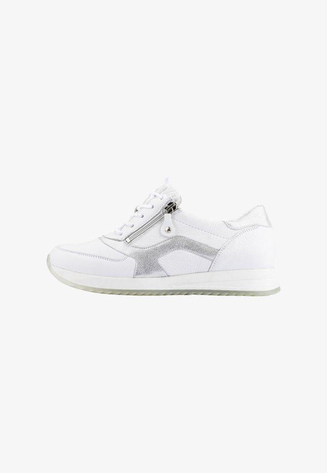 Sneakers laag - weiss silber