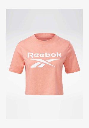 REEBOK IDENTITY CROPPED T-SHIRT - T-Shirt print - red