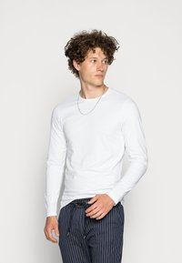 Only & Sons - ONSBASIC SLIM TEE - Long sleeved top - white - 0