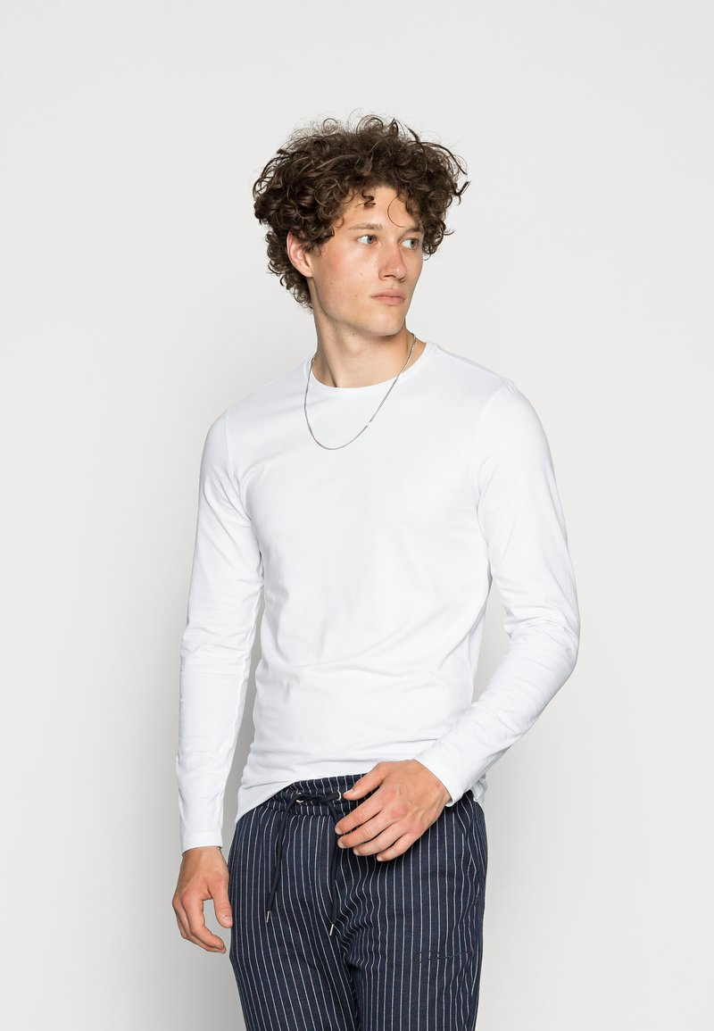 Only & Sons - ONSBASIC SLIM TEE - Long sleeved top - white