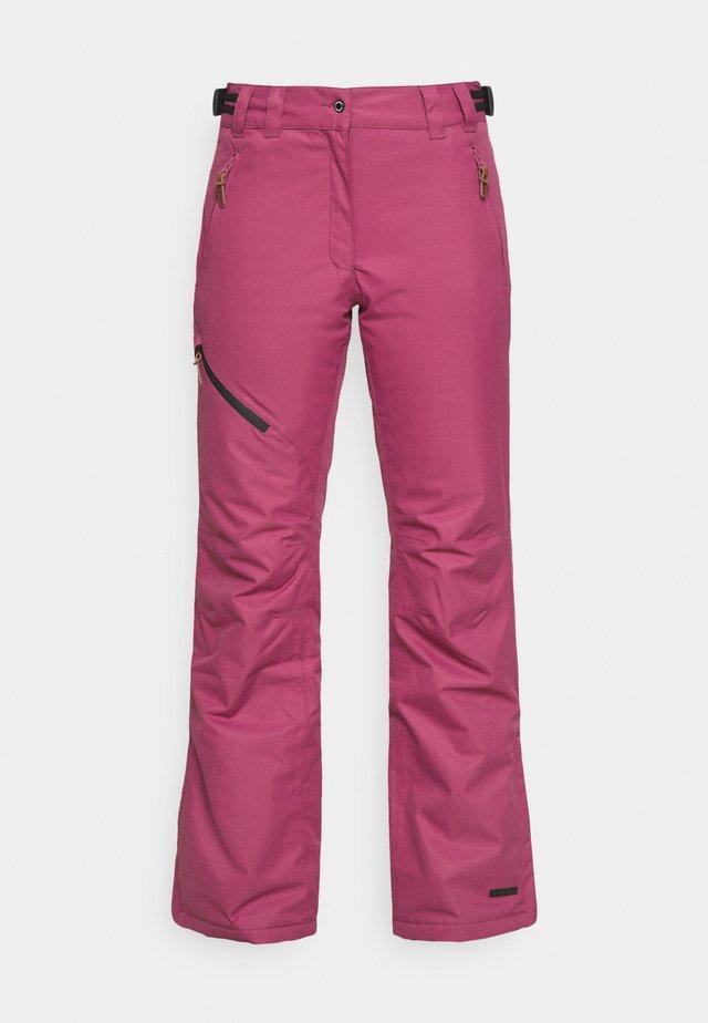 CURLEW - Pantalon de ski - burgundy