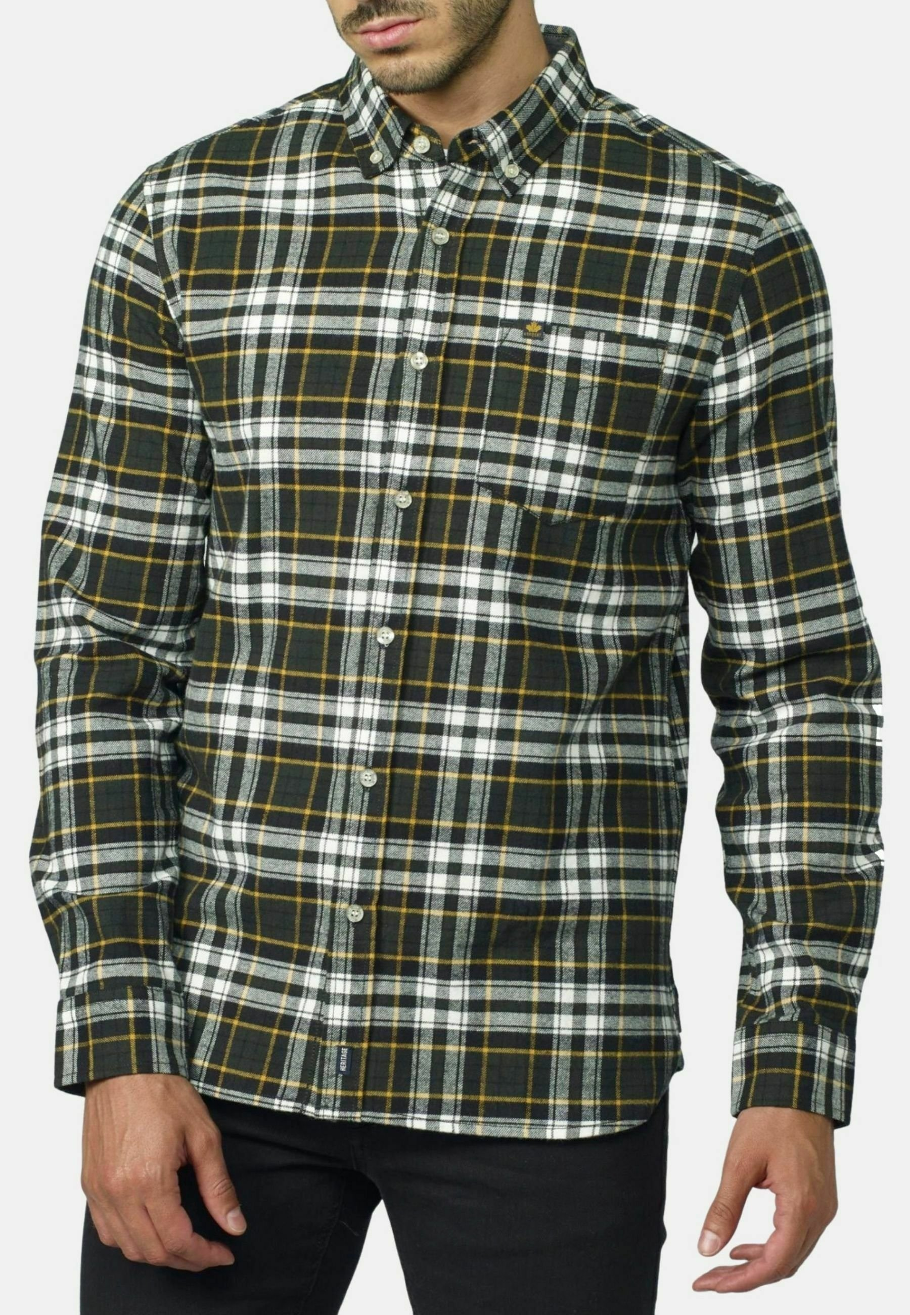Hombre MANGA LARGA A CUADROS - Camisa