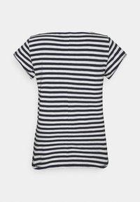 Esprit - SLUB - Print T-shirt - navy - 1