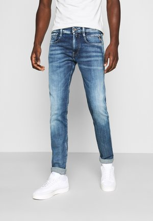 ANBASS AGED - Slim fit jeans - medium blue