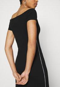 Calvin Klein - BARDOT PIPING DRESS - Maxi-jurk - black - 4