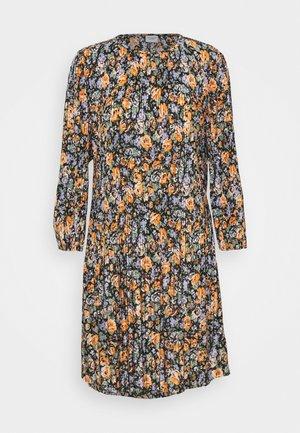 JDYBOA SHORT DRESS - Day dress - black/orange
