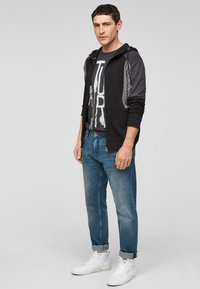 Q/S designed by - Zip-up sweatshirt - black - 1