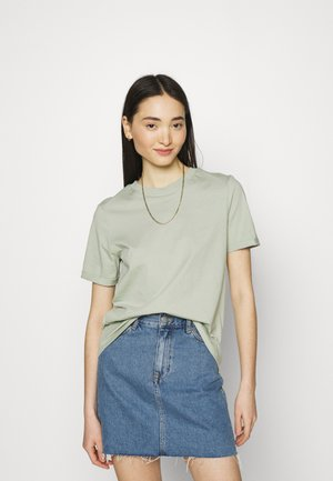 PCRIA FOLD UP SOLID TEE  - Basic T-shirt - desert sage