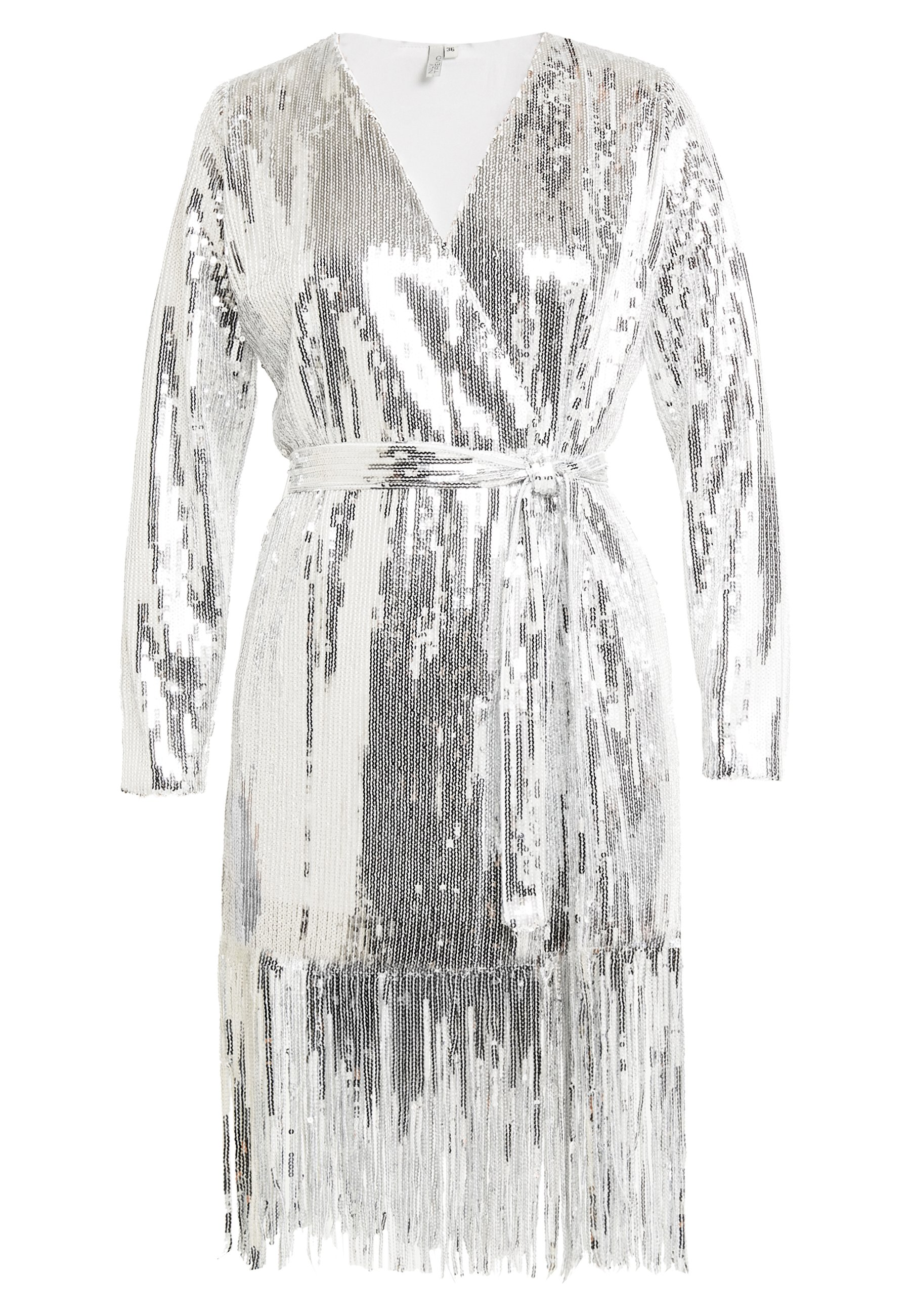 Nly by Nelly SEQUIN WRAP GOWN Galajurk silver Zalando.nl