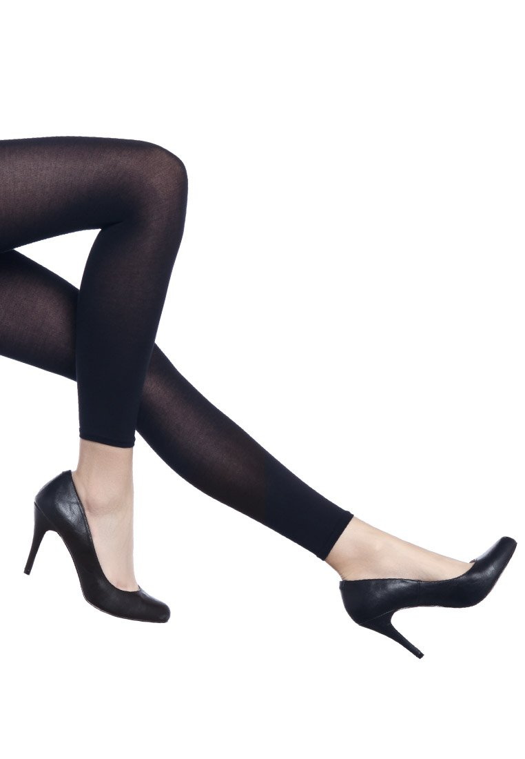 FALKE - FALKE COTTON TOUCH LEGGINGS BLICKDICHT GLATT - Leggings - Stockings - marine