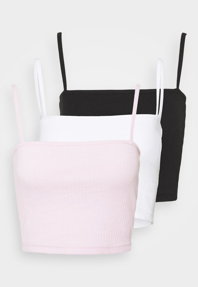 STRAIGHT NECK BRALET 3 PACK  - Top - black/white/pink