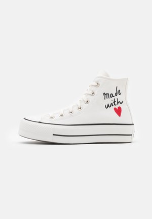 CHUCK TAYLOR ALL STAR LIFT - Höga sneakers - vintage white/egret/black