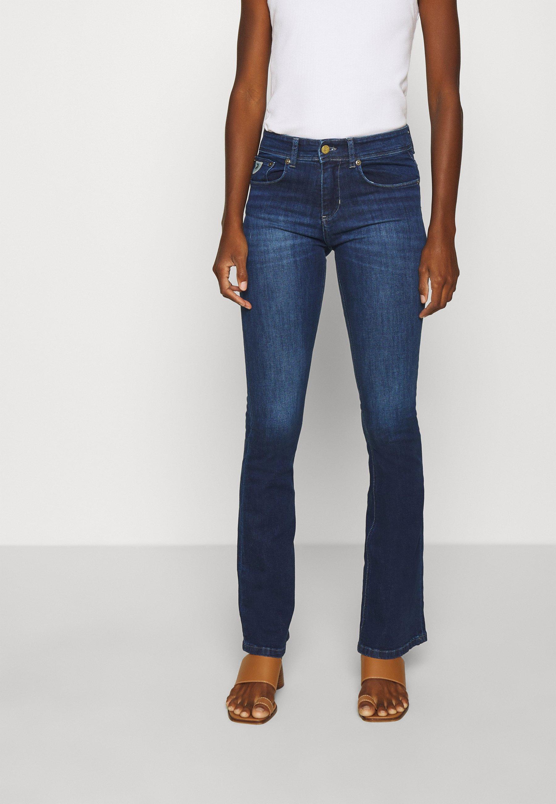 Navidad Riego Estimar  LOIS Jeans MELROSE - Flared Jeans - dark stone/dark-blue denim -  Zalando.co.uk