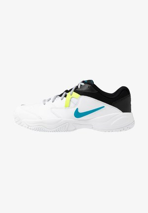 COURT LITE 2 - Buty tenisowe uniwersalne - white/neon turquoise/hot lime/light smoke grey