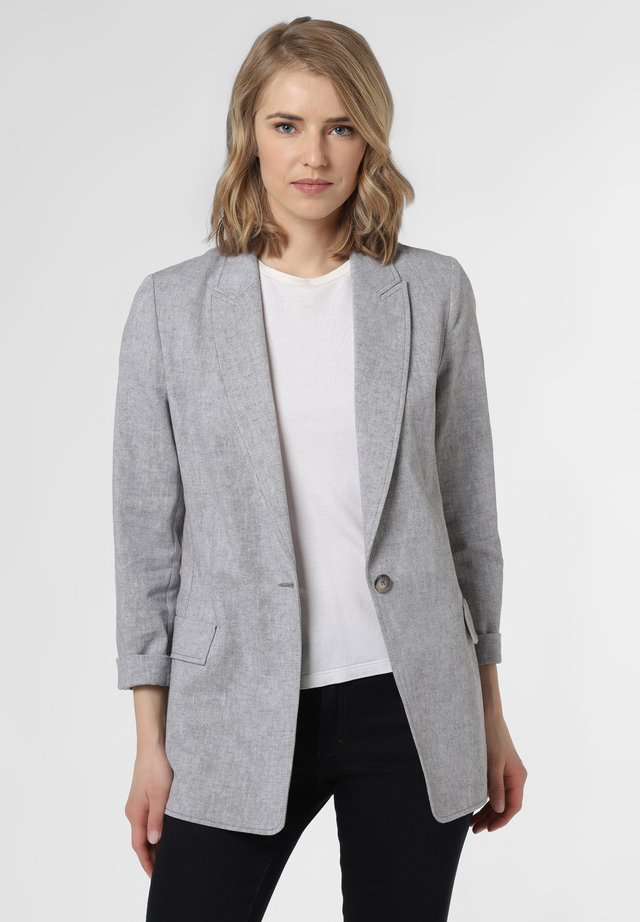 Short coat - grau weiß