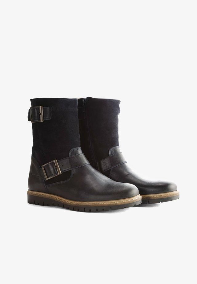 I.JONES - Cowboy/biker ankle boot - blue