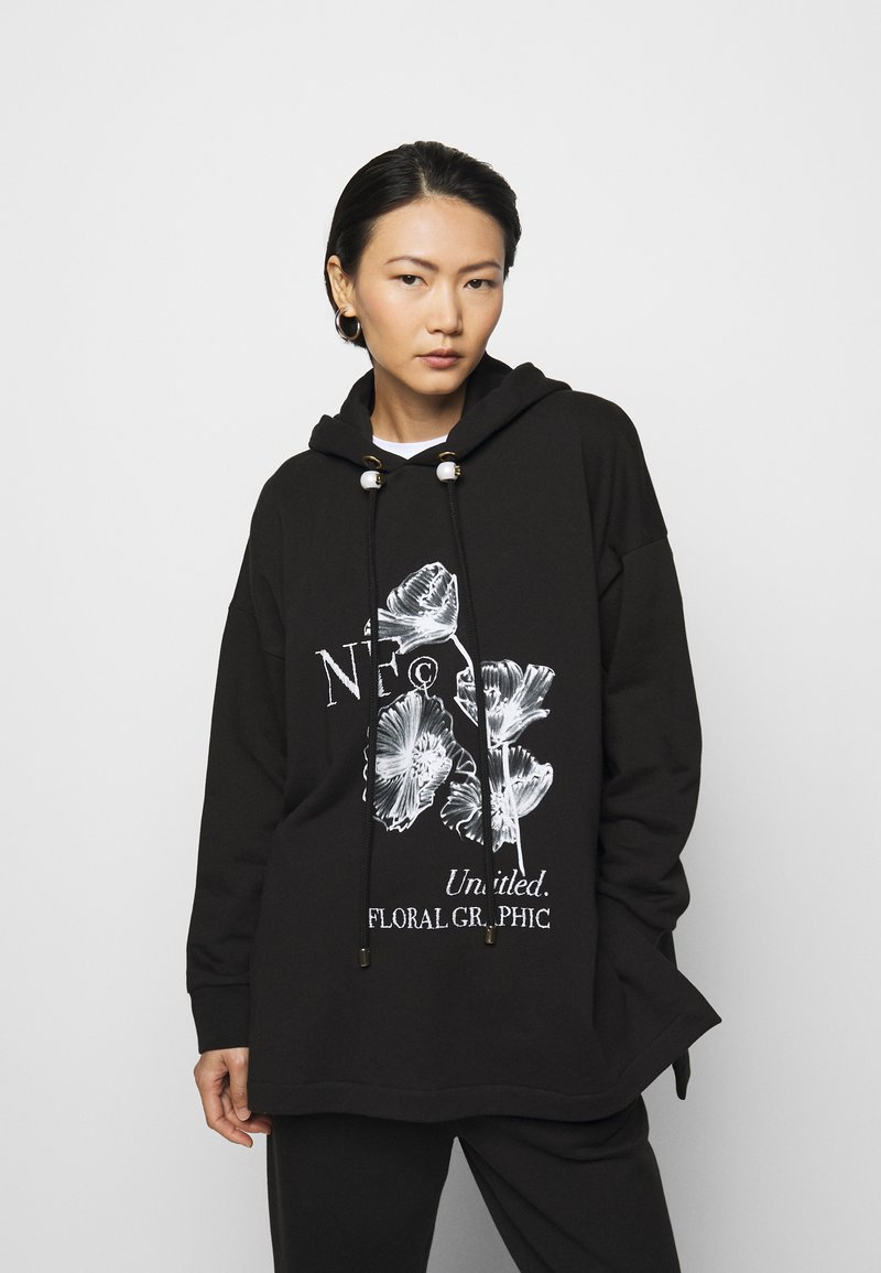 Mother of Pearl - PRINTED HOODIE WITH THICK - Mikina skapucí - black