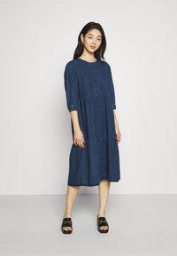Noisy May - NMJESSIE DRESS - Maxi dress - medium blue denim - 0