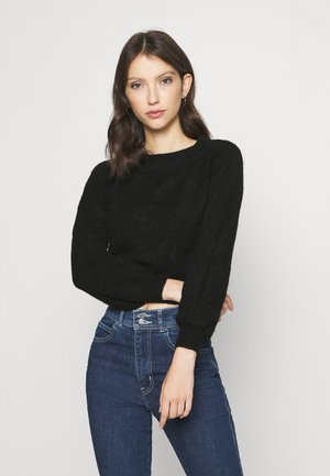 OFF SHOULDER JUMPER - Jumper - black