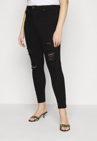 Simply Be - HIGH WAIST - Jeans Skinny Fit - black - 0
