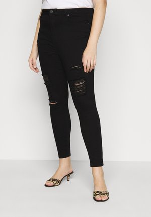 HIGH WAIST - Jeans Skinny - black