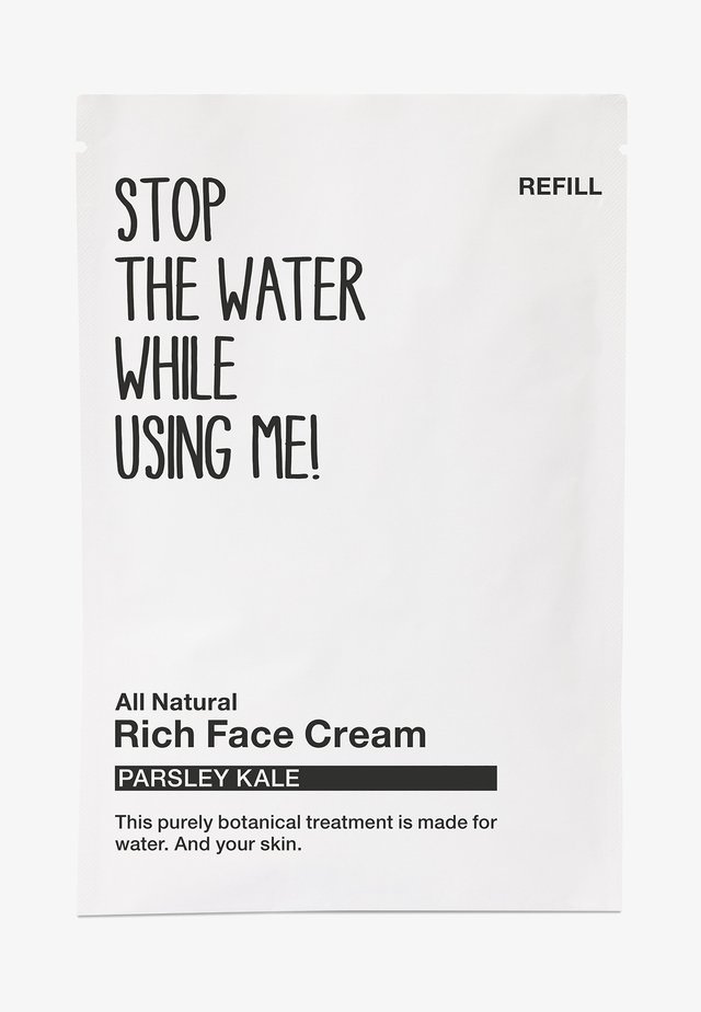 ALL NATURAL PARSLEY KALE RICH FACE CREAM, REFILL SACHET - Soin de jour - black/white