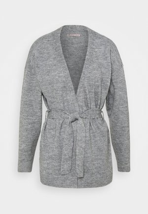 BELTED CARDIGAN  - Neuletakki - mottled grey