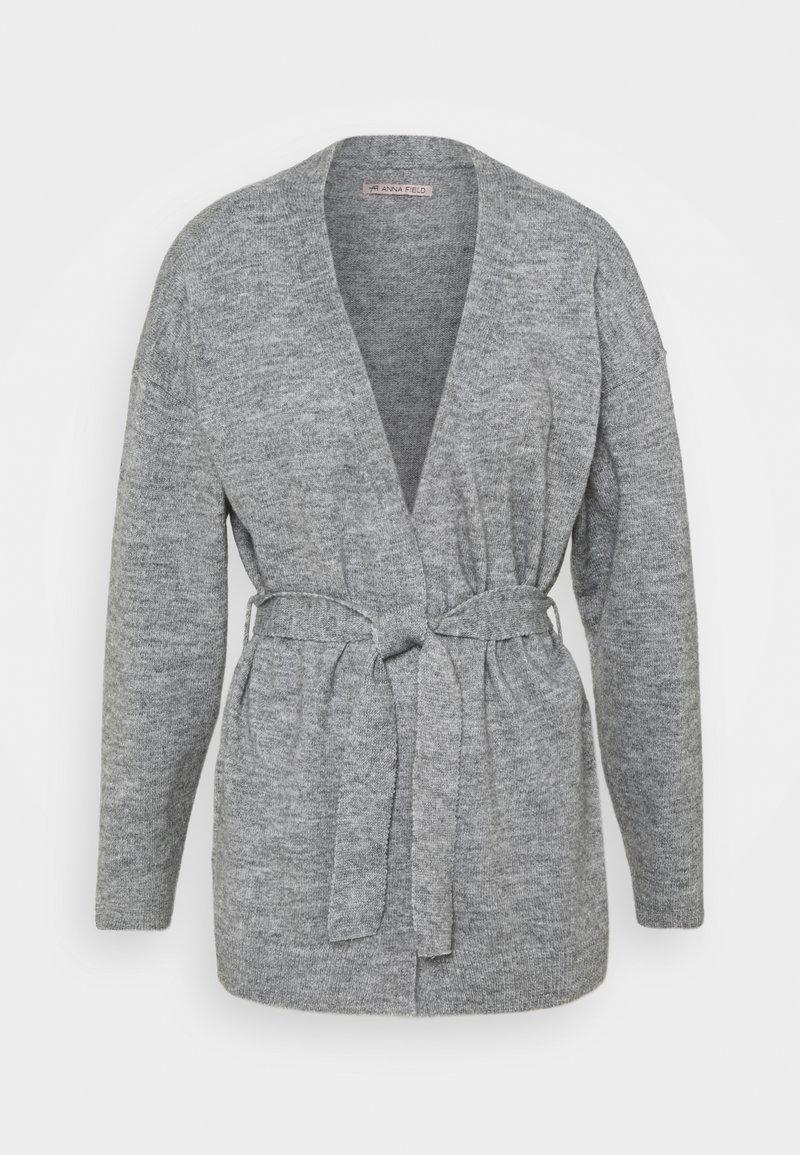 Anna Field - BELTED CARDIGAN  - Kardigan - mottled grey