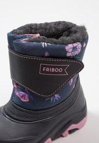 Friboo - Talvisaappaat - dark blue/light pink - 2