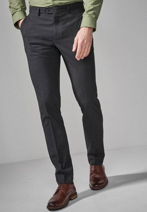 STRETCH TONIC SUIT: TROUSERS-SLIM FIT - Pantaloni eleganti - black