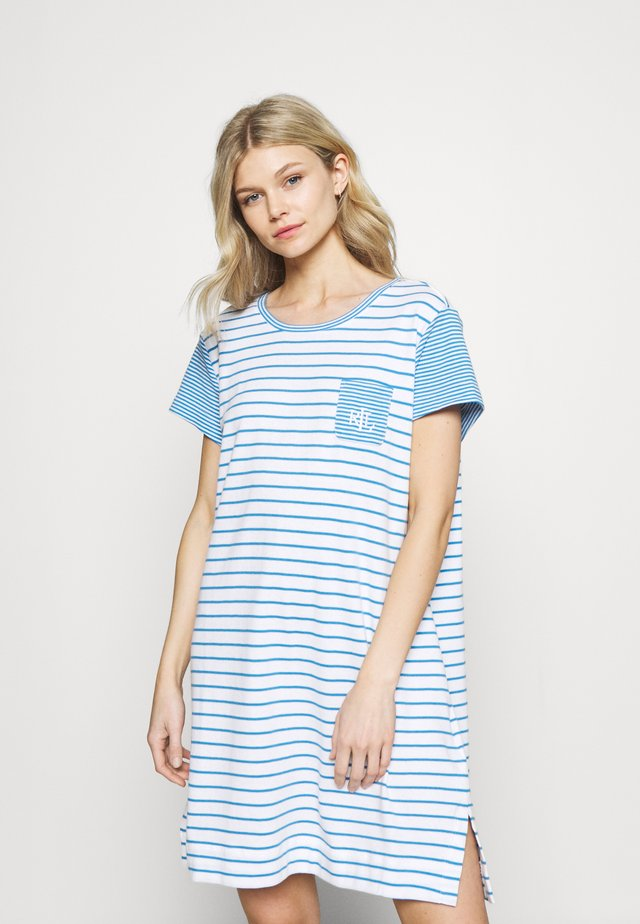 SHORT NIGHTGOWN - Nattskjorte - blue