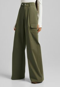 Bershka - Trousers - khaki - 3