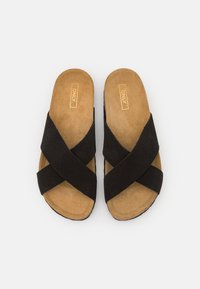 ONLY SHOES - ONLMADISON LEATHER SLIP ON - Slippers - black - 5