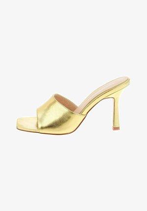 VALVERDA - Heeled mules - gold