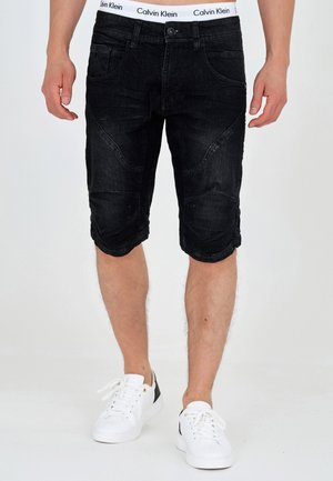 LEON - Denim shorts - black