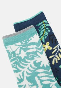 Thought - NELLY OTOMI FORAL SOCKS 2 PACK - Sukat - denim blue/field green - 1