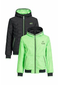 WE Fashion - ASHER REVERSIBLE  - Winter jacket - neon green, black - 2