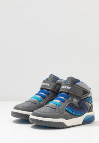Geox - INEK BOY - High-top trainers - grey/royal - 2